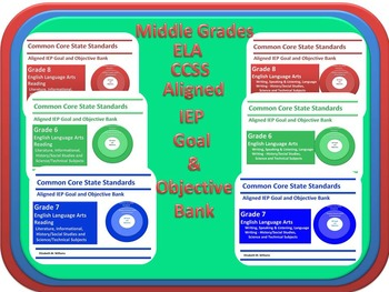 Grades 6-8 CCSS IEP Goal and Objective Bank for SLPs and Language Arts Teachers