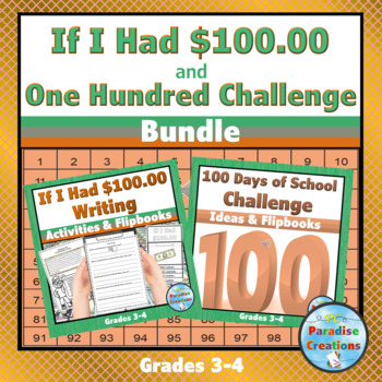 "CCSS ""IF I HAD 100 DOLLARS"" TEXT-BASED WRITING ASSIGNMENT"