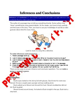 4th Grade CCSS INFERENCES AND DRAWING CONCLUSIONS ASSESSMENT