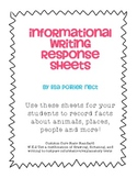 CCSS Information Writing Response Sheets