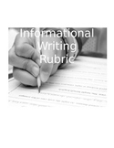 CCSS Informational Writing Rubric