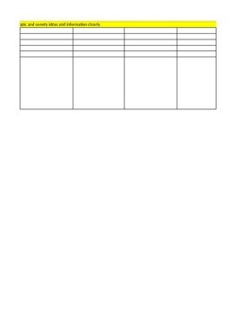 CCSS Informative Writing Matrices