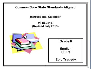 Common Core State Standards Calendar and Lesson Plans Grad