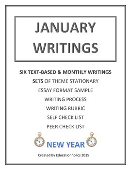 """CCSS """"JANUARY"""" BUNDLE TEXT-BASED WRITING ASSIGNMENTS"""