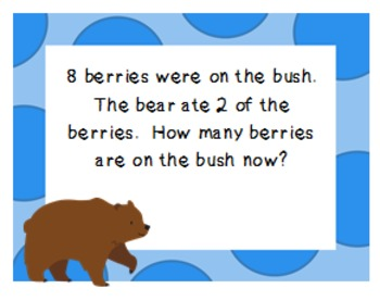 CCSS K.OA.2 Word Problems (Zoo) Set A