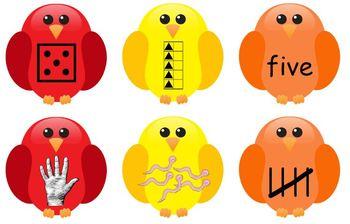CCSS {Kindergarten} - 1-10 Birdhouse Number Mats