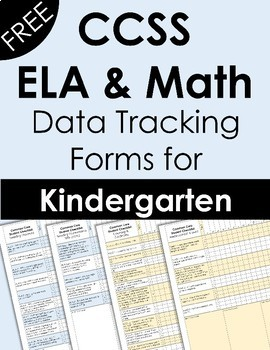 CCSS Kindergarten Data Tracking Forms {FREE}