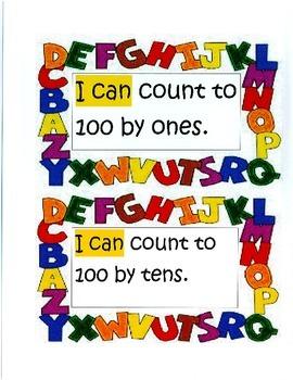 "CCSS Kindergarten Math ""I Can"" Statements"