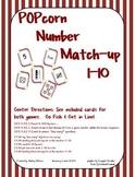 CCSS {Kindergarten} Popcorn number match 1-10