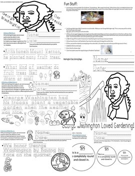 George Washington CCSS K  ELA/Math/Science/SS Mini Packet SPED