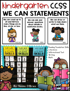 CCSS Kindergarten We Can Statements