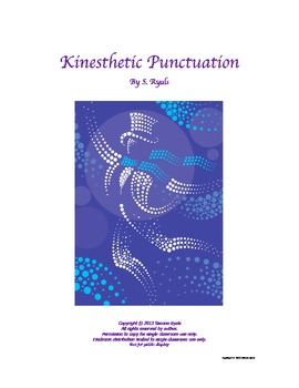 Kinesthetic Punctuation Writing 3rd, 4th, 5th Grade Literacy Language Arts CCSS