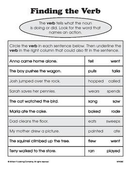 Verbs (CCSS L.1.1e)