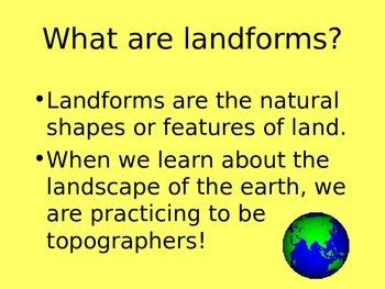 CCSS Landform definitions for third grade