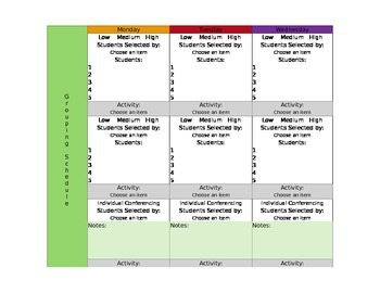 CCSS Mac Version Lesson Plan Template First Grade All Subj. -GA Science included