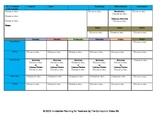 CCSS Lesson Plan Template Kindergarten Grade Teacher Keys All Subjects