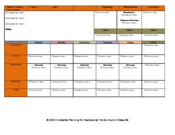 CCSS Lesson Plan Template Second Gr.Teacher Keys All Subjects - GA SC incl