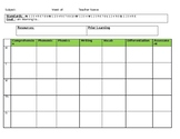 CCSS Lesson Plan template (editable)