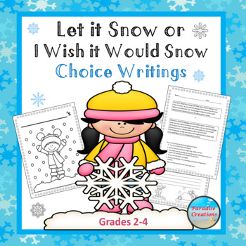 "CCSS ""Let it Snow or I Wish it Would Snow Here"" TEXT-BASED WRITING ASSIGNMENT"