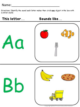 CCSS-Letters: Sounds and Spelling (Pre-K to 1st Grade)