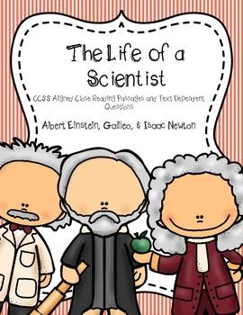 CCSS: Life of a Scientist Close Reading Bundle: Einstein, Newton, Galileo