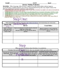CCSS Literacy: Making Predictions Graphic Organizer - ANY Literature