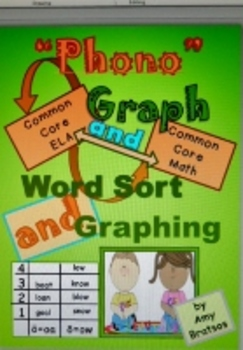 CCSS Literacy and Math Vowel Combination Word Sort and Dat