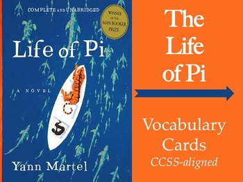 Life of Pi Common Core Literary Cards--terms, flashcards & games