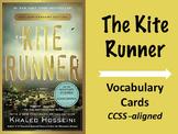 Kite Runner Vocabulary Cards--vocabulary words, flashcards