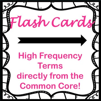 Common Core Literary Terms--games using high-frequency literary terms,flashcards