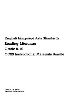 CCSS Literature: Formative Bundle RL9.1-10.10