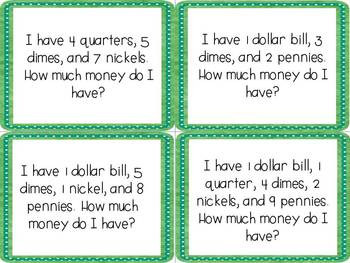 CCSS Lucky Leprechaun Money Word Problems
