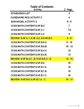 CCSS.MATH.CONTENT.5.NF.A.1 - CCSS.MATH.CONTENT.5.NF.B.7 Workbook Answer Keys