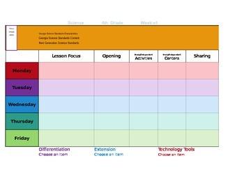 Ccss Mac Version Tkes Lesson Plan Template Fourth Grade Ga Science