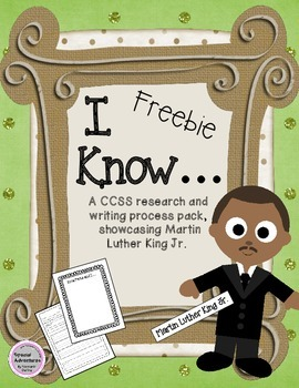CCSS Martin Luther King Jr. research and writng pack FREEBIE