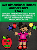 CCSS Math 2.GA.1 Two-Dimensional Shapes Anchor Chart & Printable
