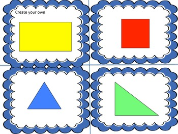 CCSS Math Activity Categorizing and Matching Polygons Game