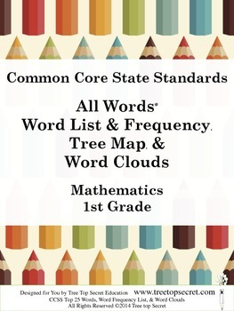 CCSS Math All Words Word List and Frequency - 1st Grade