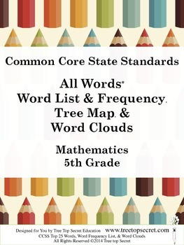 CCSS Math All Words Word List and Frequency - 5th Grade