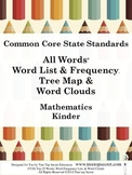 CCSS Math All Words Word List and Frequency - Kinder