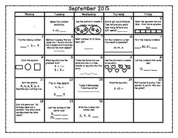 CCSS Math Calendar 2015 - 2016