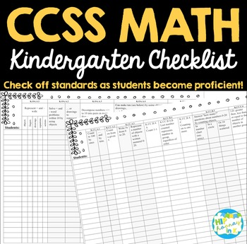 CCSS Math Checklist - Kindergarten