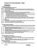 CCSS Math Checklist - Kindergarten