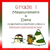 1.MD.C.4 1st Grade Winter Measurement and Data Graphing Math SPED/ESL