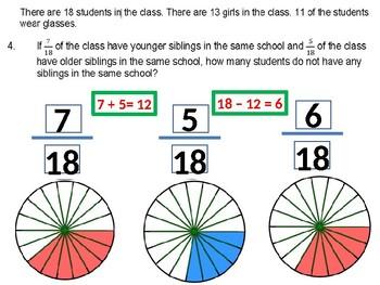 CCSS.Math.Content.2.G.A.3 Visual Representation of Fractions Reading Problem