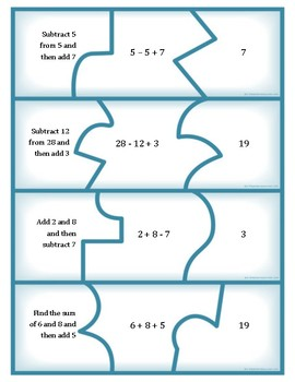 CCSS.Math.Content.5.OA.A.2 Task Card Puzzles - Operations & Algebraic Thinking