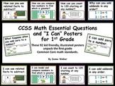 "CCSS Math Essential Questions and ""I Can"" Posters"