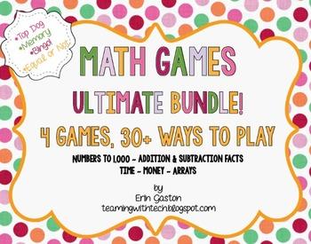CCSS 2nd Grade Math Games & Stations Ultimate Bundle