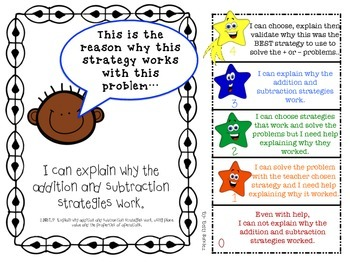 CCSS Math Goals with Graphics & Rubrics for Second Grade