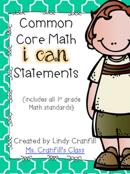 CCSS Math I Can Statements